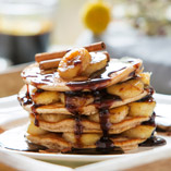 Gingerbread Pancakes with Sticky Bananas