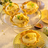 Mango and Passionfruit Mousse Tartlets