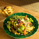 Pear and Pancetta Salad with Goat's Cheese