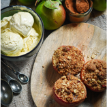 Brown Butter Streusel Baked Apples