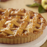 Toffee Apple and Cinnamon Lattice Tart
