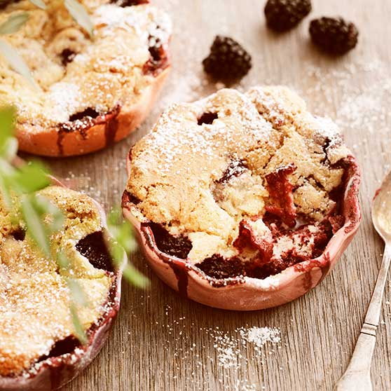Individual Blackberry Cobblers