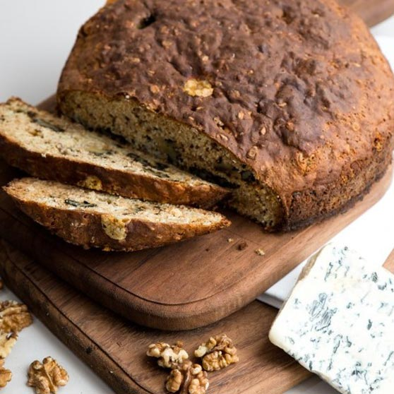 Blue Cheese and Walnut Soda Bread