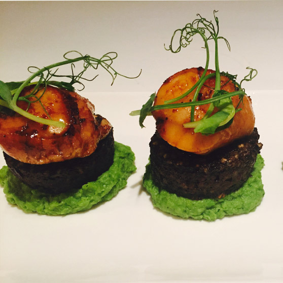 Caramelised Scallops Black Pudding