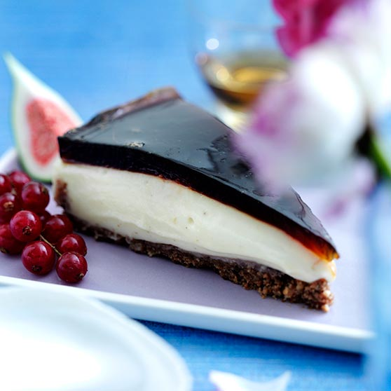 Chocolate Cheesecake With Coffee Jelly Topping