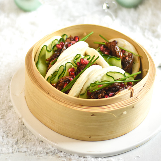 Glazed Hoisin Duck Bao