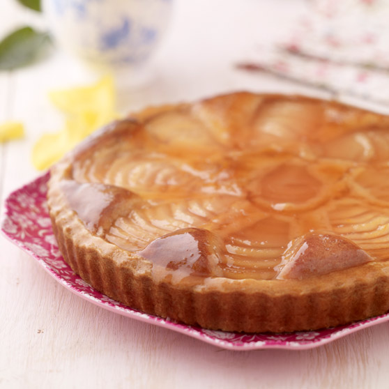 Pear, Almond and Rhubarb Tart