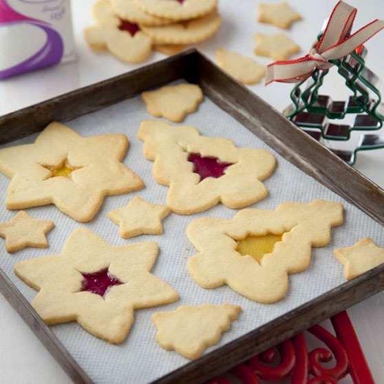 Stained Glass Window Christmas Cookies
