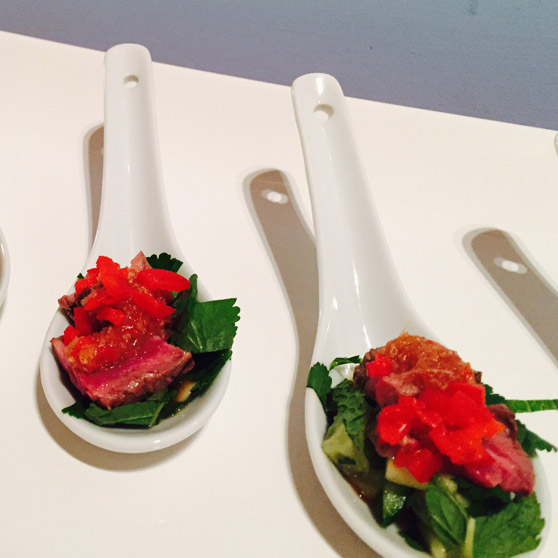 Thai Beef Salad Canapes
